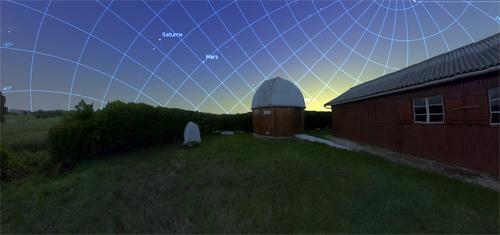 Paysage depuis la pelouse sud de l'observatoire de la SAH